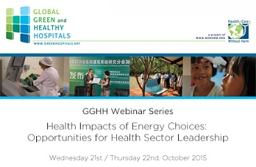 GGHH Webinar Series | Health Impacts of Energy Choices: Opportunities for Health Sector Leadership