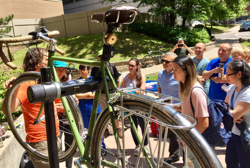 Bike Month at UHN. Activity designed to promote the use of bikes and reduce car emissions | Credits: UHN